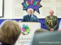 The visit of President of Ireland, Michael D Higgins to the Educate Together AGM in Donabate Portrane ETNS. Picture: Brendan Lyon/ImageBureau