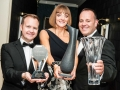 Ulster Bank Wins Best Learning Organisation Award, the top award at the IITD National Training Awards 2016, at Killashee House Hotel on Friday 26th February. L-R Barry Mulcahy, Learning Partner; Joyce Walsh, Head of Learning and Kevin Keegan, HR Director, all from Ulster Bank. Ulster Bank were also Highly Commended in the Pearse Walsh Award for Innovation in the Transfer of Learning to Employees. Picture: Brendan Lyon/ImageBureau