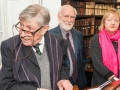 Pictured at the launch of A History of Haematology by Prof Shaun McCann in Marsh's Library, Dublin, were (l-r) Prof Jean Paul Pittion, TCD; Prof John Horgan, TCD and Brenda Moore-McCann, Shaun's wife. Picture: Brendan Lyon/ImageBureau