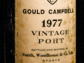 Gould Campbell, Vintage Port, 1977, Wine bottle photographed in studio with Fresnel Lighting. Pic: Brendan Lyon.