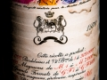 Chateaux Mouton Rothschild 1970, Premier Grand Cru Classe, Bordeaux, Wine bottle with Marc Chagall Label, photographed in studio with Fresnel Lighting. Pic: Brendan Lyon.